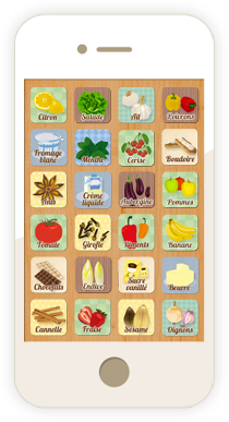 image application iphone et ipad cuisine